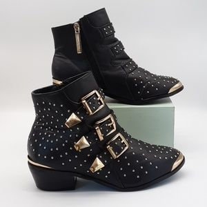 3/$25 Shiekh Emblised straps Ankle Booties